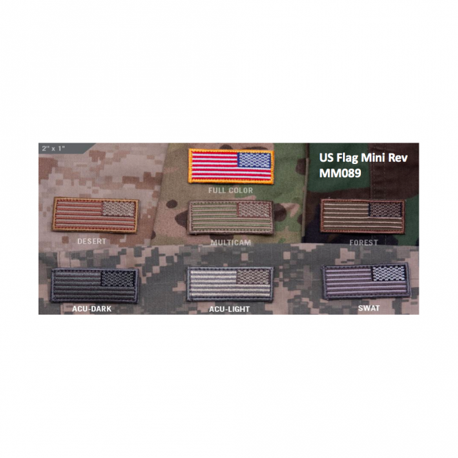 Mil-Spec Monkey MSM US Flag Mini Rev - Desert