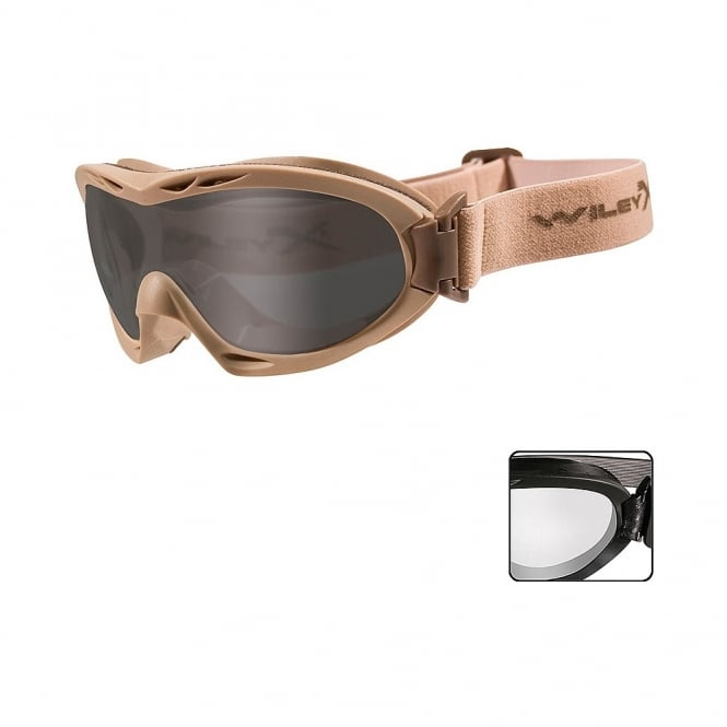 Wiley X  NERVE - Smoke Grey + Clear Lens / Tan Frame
